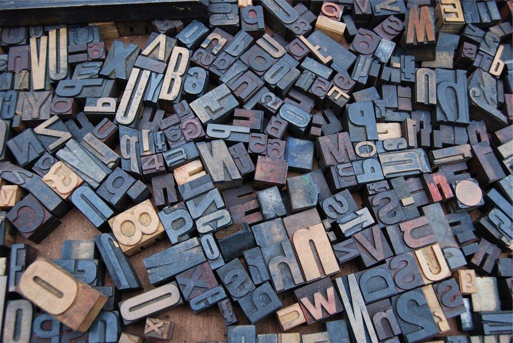 Dolmetscher-Buchstaben