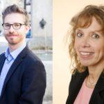 AIIC-Vorkandidat Matthias Haldimann und AIIC-Mitglied Manuela Wille (seit Januar 2018 Mitglied des Ausschuss des Privatmarktsektors der AIIC). Fotos: privat